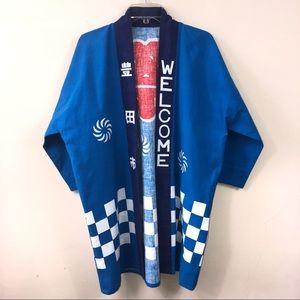 Jackets & Blazers - Vintage Open Front Streetwear Kimono Sz L/XL